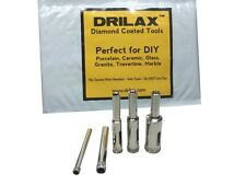 5 Pcs Diamond Drill Bit Set 3/16, 1/4, 5/16, 3/8, 1/2 inch Glass Granite Tiles