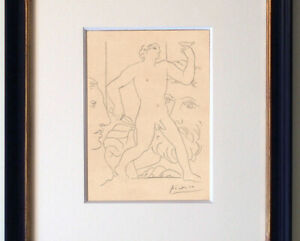 Pablo Picasso Drawing Interior French Nude Bacchus Roman Greek Classical Vollard