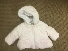 Baby Girls Pink Hooded Mothercare Coat Zip Fasten Size New Born New Free Post