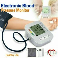 Portable Blood Pressure Monitor Upper Arm Digital BP Machine With Large Cuff US