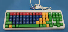 GoogleBoard USB Kids Computer Keyboard Extra-Large Color-Coded Keys Taiwan-NEW!
