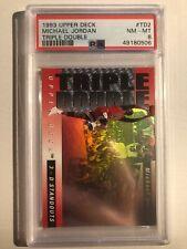 1993 Upper Deck Triple Double Holo Michael Jordan Bulls TD2 Mint Near Mint PSA 8
