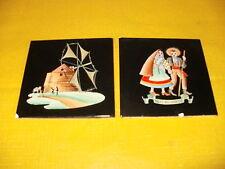 2 alte Fliesen ALELUIA AVEIRO Kacheln Keramik Szenen Mühle