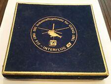 Medallie Abzeichen 500 Industrieflugeinsatz für GISAG INTERFLÜG 1987 DDR