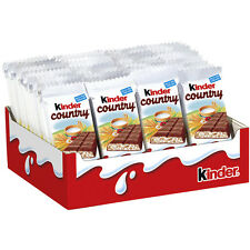 25 x Kinder country milkchocolate bars (= 580g / 1.28lbs) **Made in Germany**