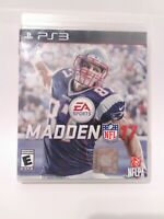 Madden NFL 17 (Sony PlayStation 3, 2016) Game and Case Tested Fast Shipping