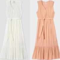 Women's Sleeveless Kimono Dress - Knox Rose - Dusty Pink or White