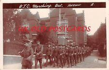 Middlesex - HARROW, Officer Training Corps marching from School,  Real Photo