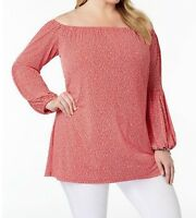 Michael Kors Women's Cruize party Cocktail day night work tunic top plus2X3X$98
