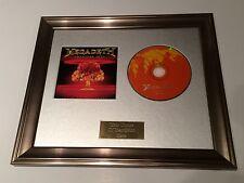 SIGNED/AUTOGRAPHED MEGADETH - GREATEST HITS FRAMED CD PRESENTATION.DAVE MUSTAINE