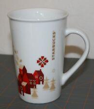 Starbucks White 12fl Oz 354ml Coffee Mug Holiday Christmas Seasonal Snow Flakes