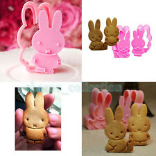 2pcs Silicone Cute Rubbit Backing Cake Biscuit Decorating Easter DIY Molud Tools