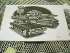 "1967 Impala, # 1406 Thom SanSoucie Signed Print, 11"" x 17"", Flashbacks series"