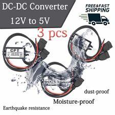 3pcs Brand New Waterproof Dc Dc Converter 12v Step Down To 5v Usb Power Module 3