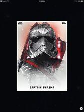 STAR WARS CARD TRADER - THE LAST JEDI - PREMIERE PORTRAITS - CAPTAIN PHASMA