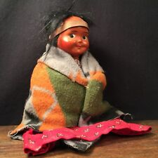 Vintage Doll Skookum Native American Indian w Blanket PRIORITY MAIL a