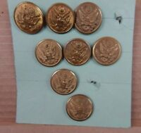 WW2 American Army Officers Buttons x 8 Scovill MFG Co Waterbury 29mm