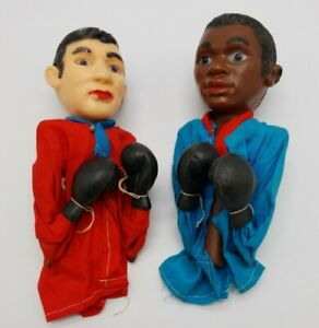 Vintage Muhammad Ali & Howard Cosell Boxing Punching Hand Puppets 1960'S SMC