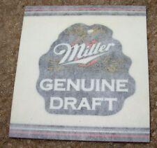 MILLER MGD GENUINE DRAFT Foil STICKER decal craft beer brewery brewing