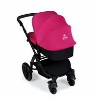 Ickle Bubba Stomp v2 3-in-1 Baby Travel System - Pink on Black Frame Combination