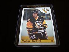 + ( MARIO LEMIEUX ) 1985-86 OPC  #9  ROOKIE Penguins REPRINT HOCKEY  CARD