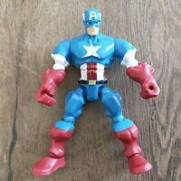 "Marvel Super Hero Mashers Captain America 6"" Loose Action Figure"