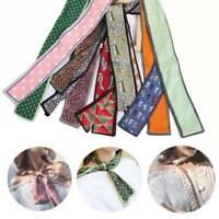 Frauen Tasche Gurt Krawatte Band Halstuch Haargummi Band Gedruckt Seidenschal