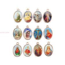 25mm Catholic Religious Faith Crosses Enamel Charms Medals Jewellery Pendants
