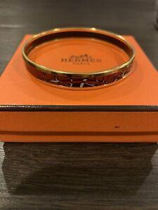HERMES Red & Black Enamel Bracelet