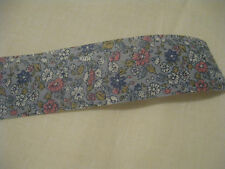 """BLUE FLORAL MATERIAL RIBBON TRIM, 1-3/8"""" WIDE X 4 YARDS LONG"""