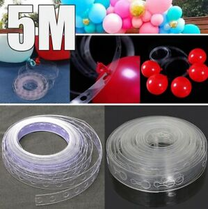 5M Balloons Strip Arch Party Connect Chain Plastic Tape Decorating String Baloon