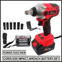 Impact Wrench Sockets set 20V Battery Cordless 1/2 Rattle Gun electric Brushless