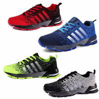New Men's Trainers Running Breathable Shoes Sports Casual Athletic Sneakers