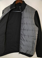 Hugo Boss Sweat Top 'Pizzoli 20' Ribbed Coat Jacket Black Size M  RETAIL $335