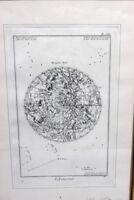 Kupferstich Sternenkarte um 1800 Frankreich Blatt 67
