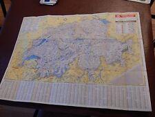 ESSO 1949 era SWISS SWITZERLAND  SAMEDAN  MAP  GREAT DETAIL  GIFT POTENTIAL
