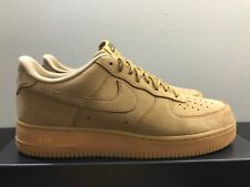 MENS NIKE AIR FORCE 1 '07 LOW FLAX WHEAT AA4061-200 SIZE 13 DS, 100% AUTHENTIC