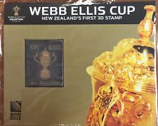 2011 NZ Webb Ellis cup $15 3 d stamp