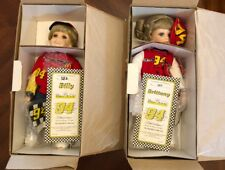 Billy & Brittany Porcelain Dolls Signed By Bill Elliott Racing Fans