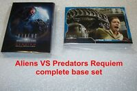 ALIENS VS PREDATORS REQUIEM  - complete base set trading cards -