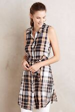 NWT SZ 4 $78 ANTHROPOLOGIE SUNLIT PLAID TUNIC BY HOLDING HORSES