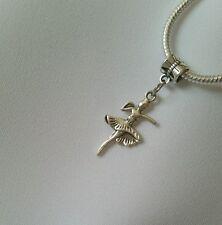 Ballerina Ballet Dancer Dance Dangle Charm Bead for European Bracelet Necklace