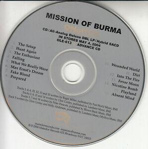 MISSION OF BURMA ONoffON 2004 US 16-trk advance promo CD Matador