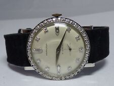 14K White-Gold Diamond White Dial, Bezel & Lugs Hamilton Wrist Watch