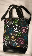 Wine Tote Insulated Bag Kato 2 Bottle Divided Carrying Spirals EUC Picnic LN