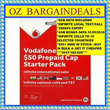 VODAFONE $50 SIMCARD+INFINITE CALL TEXT/SMS+10GB DATA(500+ IN STOCK - BUY BULK)