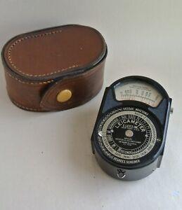 Weston Leicameter model 617 lightmeter, case, E. Leitz Inc. USA, 1934, very rare