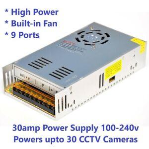 DC12V 10A/20A/30A 9CH/18CH CCTV Security Camera Power Supply Distribution Box