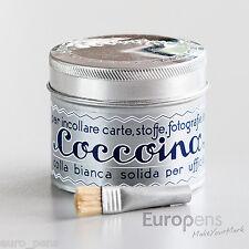 Coccoina Paper & Fabric White Adhesive Paste / Glue Solvent Free + Brush 125gm