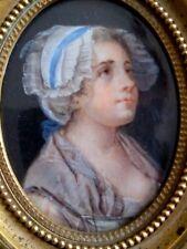 Magnifique miniature Jean Baptiste Greuze (dans Le Gout De) 1725-1805.